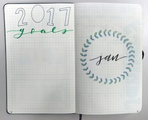 Overview of goals for the year, and the January title page.