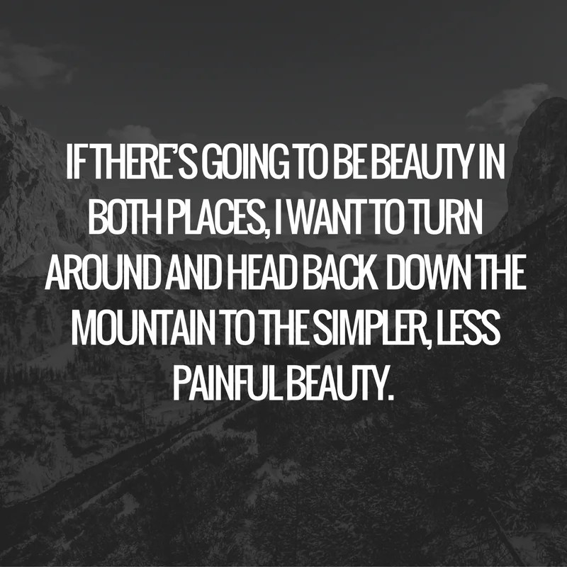 If there's going to be beauty in both places, I want to turn around and head back to the simpler, less painful beauty..png