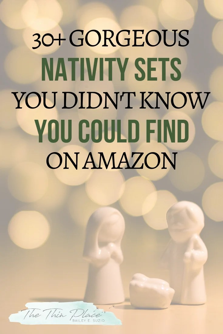 Nativity Sets to Help Keep Christ in Your Christmas Decorations #christmas #Jesus #christian #Christmasdecorations #nativity