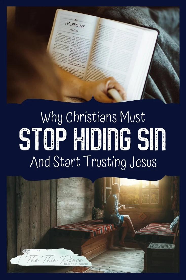 Dear Church, Let's Stop Hiding Sin #holyliving #christianwomen #devotional #biblestudy #churchlife