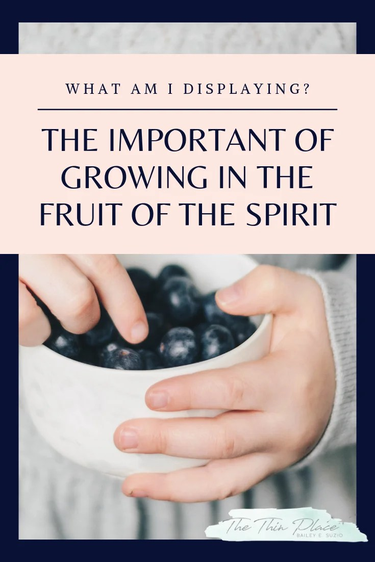 What Am I Displaying? Growing the Fruit of the Spirit in My Life #FruitoftheSpirit #HolySpirit #Devotinal #BibleStudy #ChristianWomen