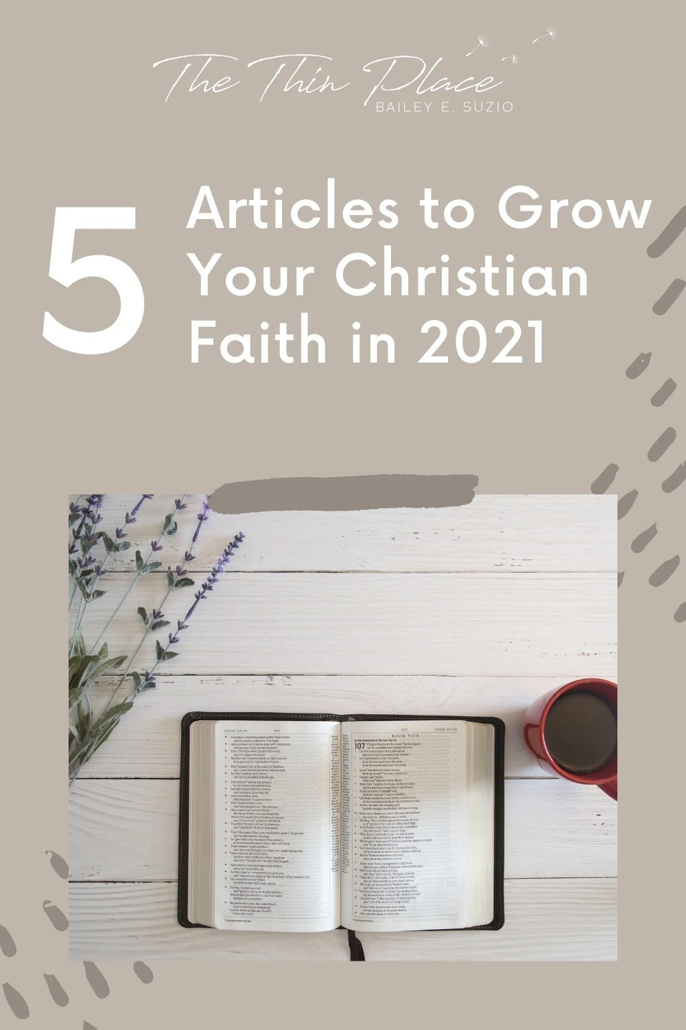 If you're looking to make major spiritual growth this year, here are 5 articles to get you on the right track! #christiandevotions #christianwomen #christianfaith