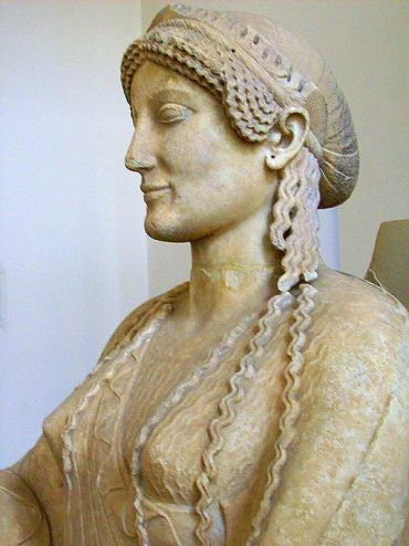 "Statue of ""Throning Goddess,"" Persephone"