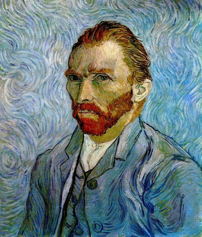 """Self-Portrait,"" by Vincent van Gogh, 1889"