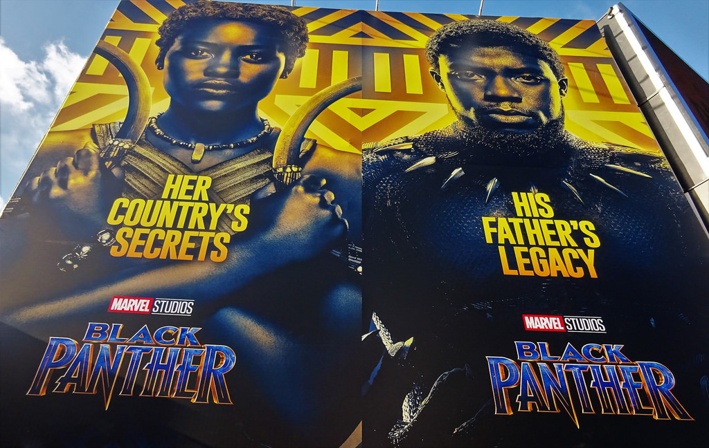 Black Panther film posters, photo by David Holt