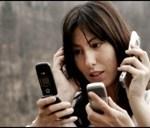 woman on 3 phones