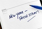 New year fresh start sign