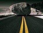 rock in the road