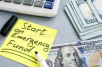 emergency fund sign