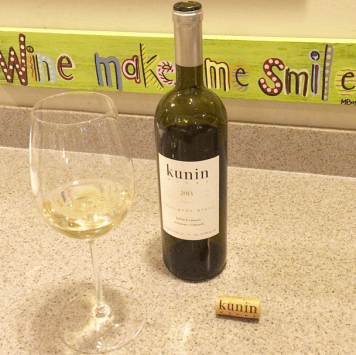Wine makes us smile — especially Kunin's Sauvignon Blanc from the Stolpman Vineyard