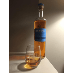 Father's Day. Dear Darling Spouse received this Brenne Whisky and monogrammed tumblers. Brenne, with its bubblegum aroma, is perfect after dinner sipper.