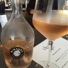 Brad and Angenlina's Miraval Rosé at Victor's