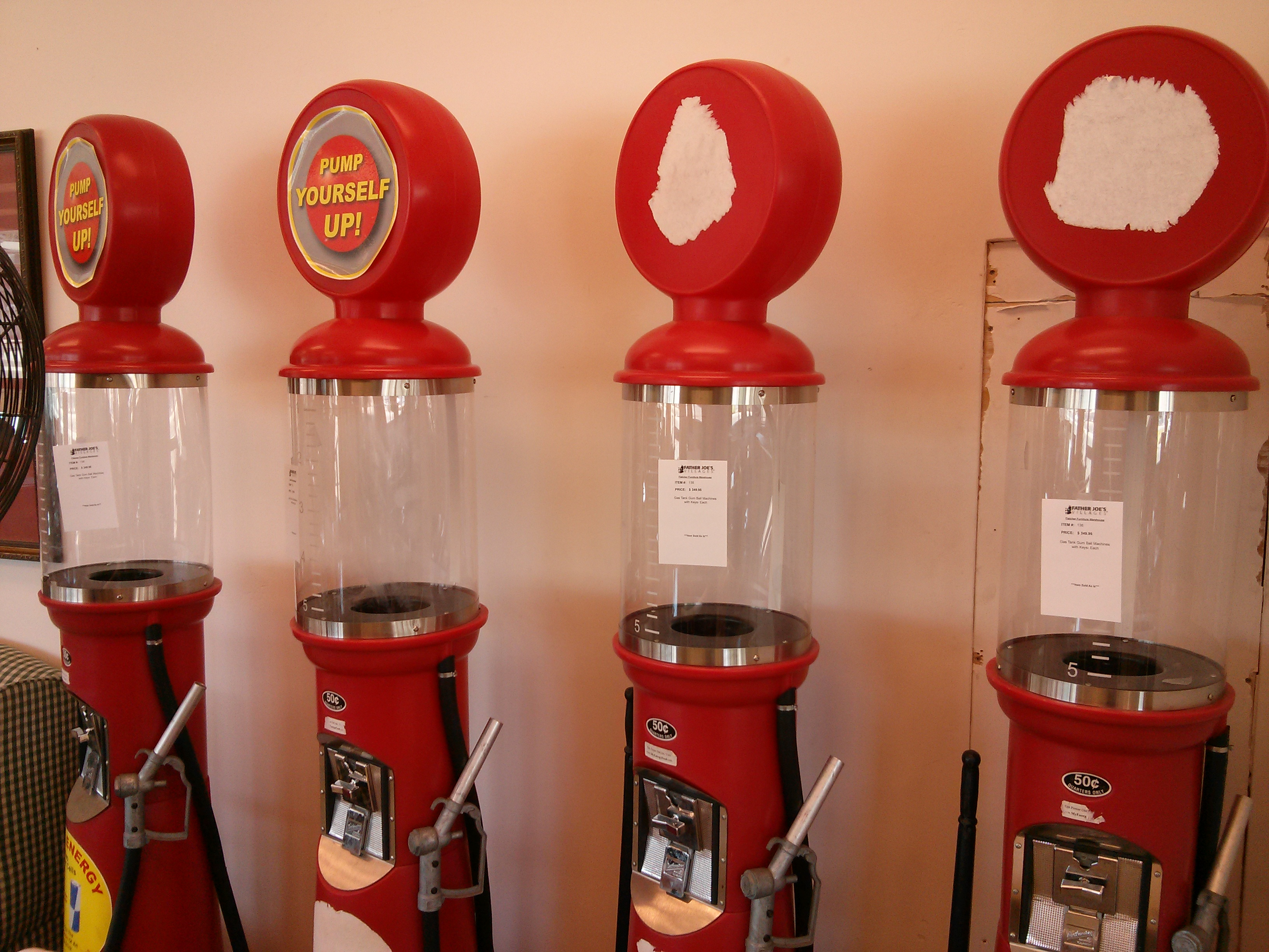 Gas Pump Gumball Machines Another Mans Treasure