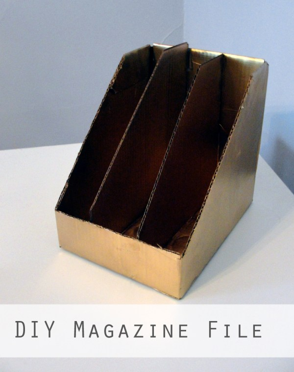 DIY Magazine File Holder