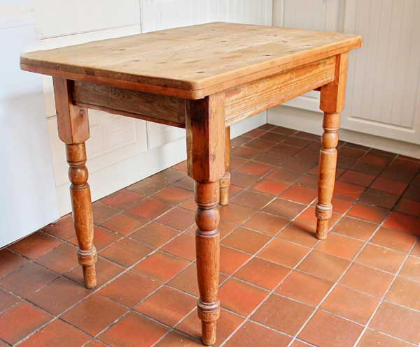 This is how the table looked when we bought it...