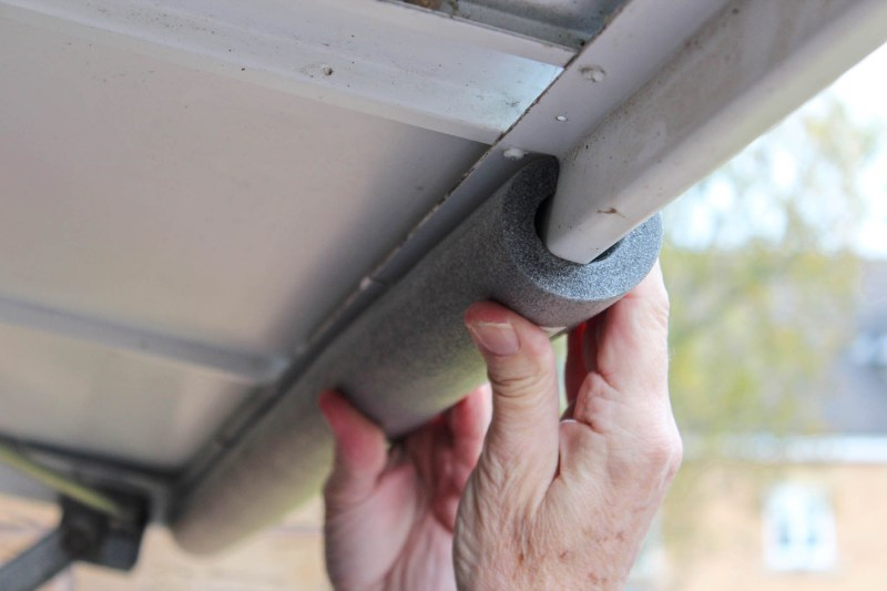 quick and easy draught proofing for a garage door