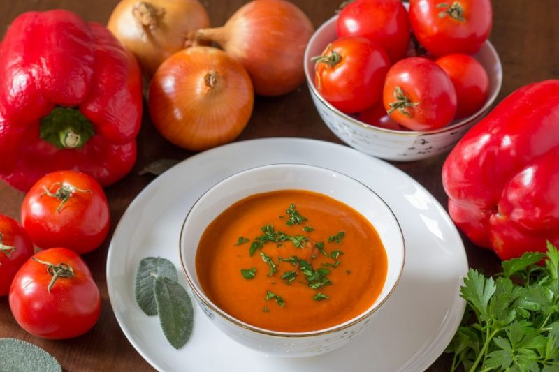 Roasted Red Pepper & Tomato Soup Recipe