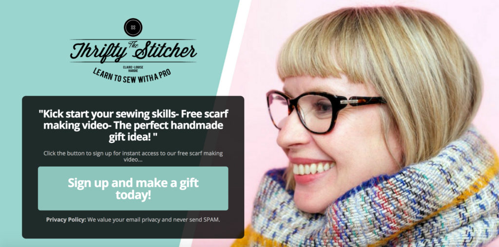 Free mini sewing course- make a scarf as a holiday gift