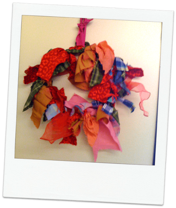 fabric wreath