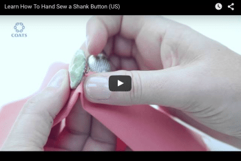 How to Hand sew a button
