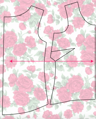 pattern placement on dresses and tops