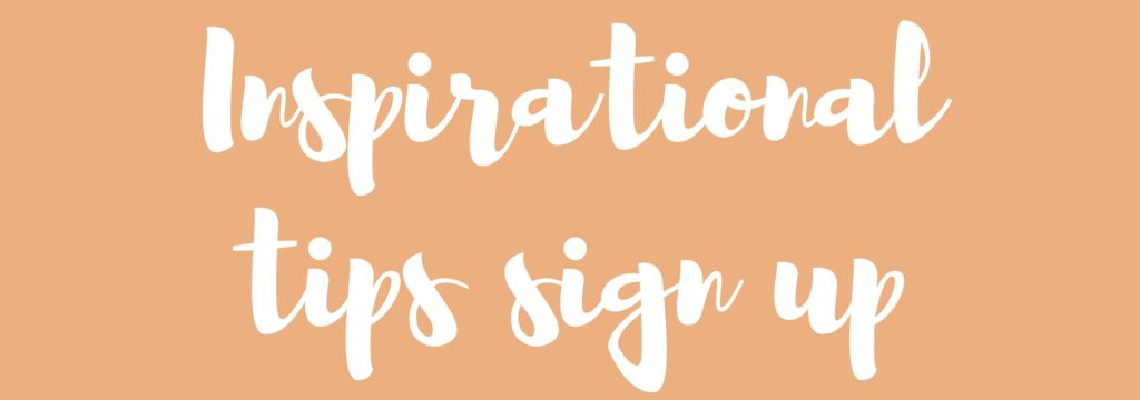 Inspirational tips sign up