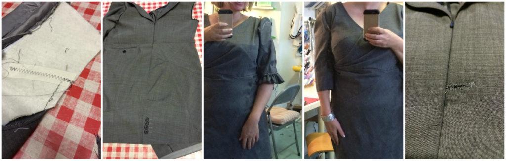 """Man's suit into a dress """"refashion"""""""