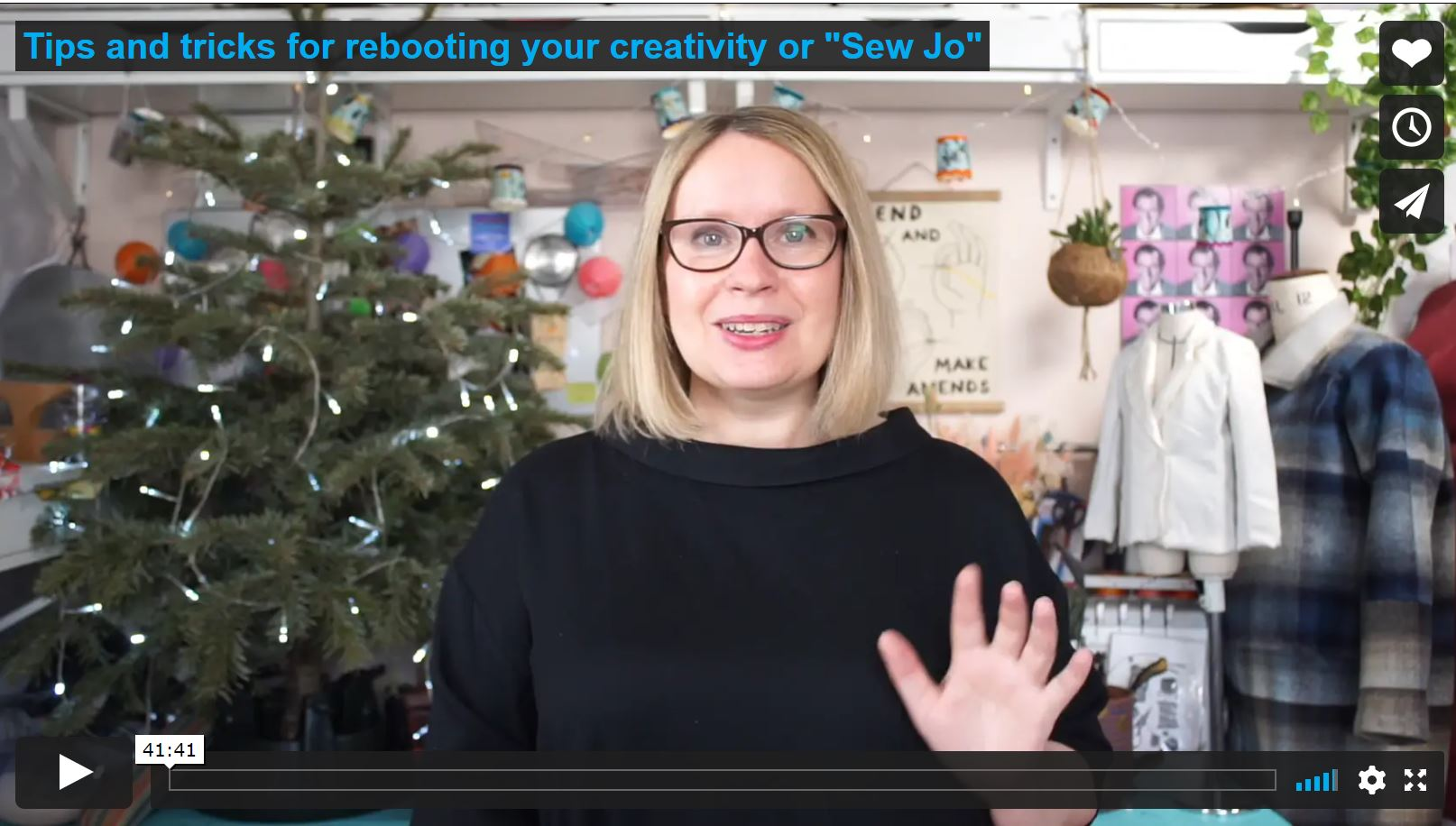 """Tips and tricks to reboot your creativity or """"Sew-Jo"""""""