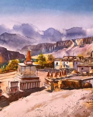upper mustang painting