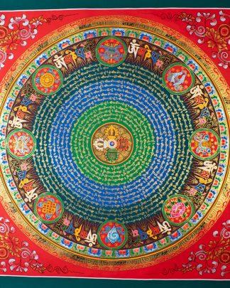 Mantra Mandala - Handmade Thangka painting from Ne