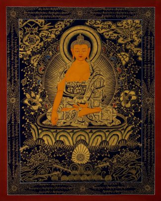 Shakyamuni Buddha - Handmade Thangka Painting from