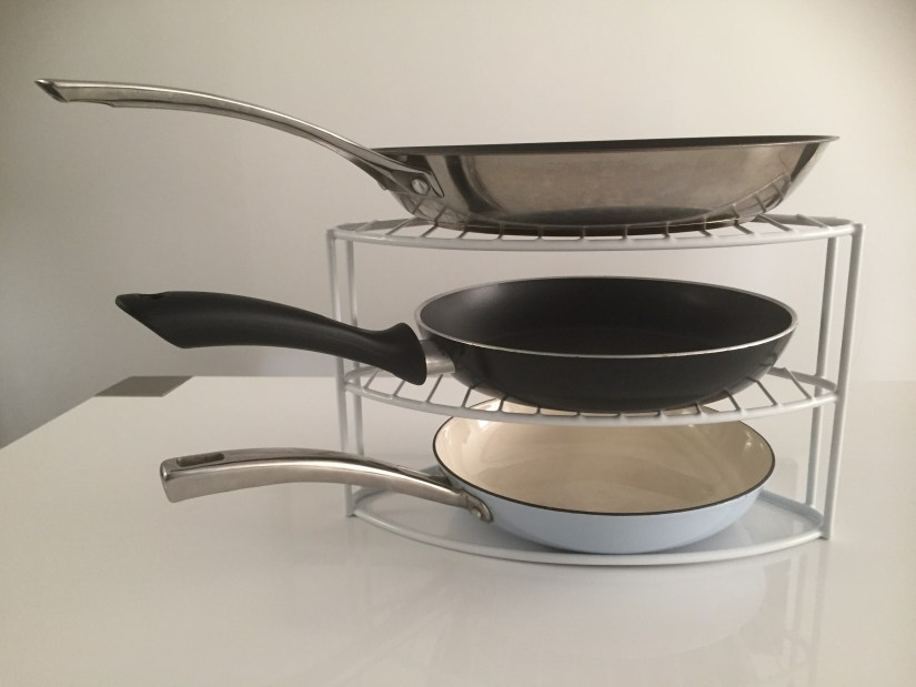 , A Tiny Tidy Tip! ~ Go Vertical With Your Frying Pans., The Tidy Lady, The Tidy Lady