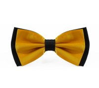 Two Tone Golden Yellow Bow Tie