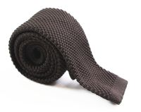 Dark Brown Knit Tie