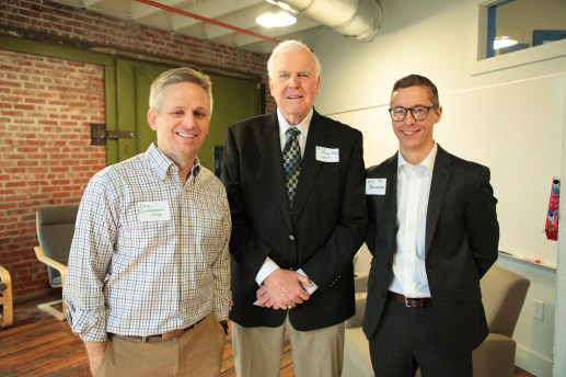 Eric Gunderson, Dick Mueller and Will Brockoven pose for a picture after the event