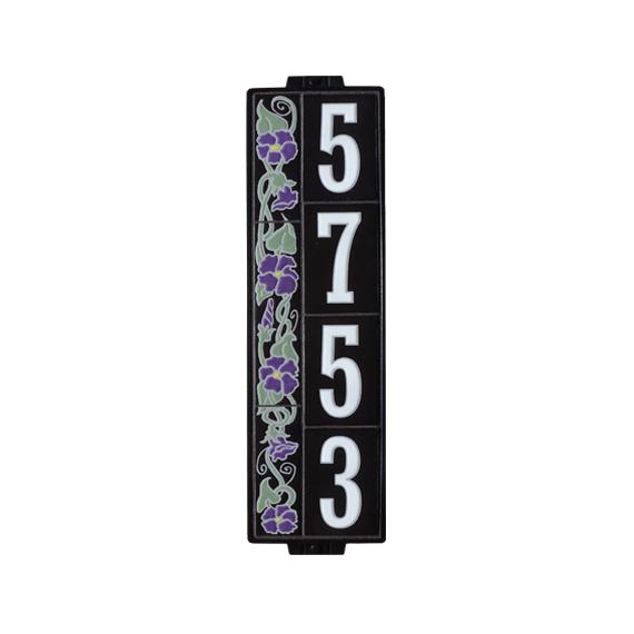 "6""x18"" Summer Bloom House Number Sign"
