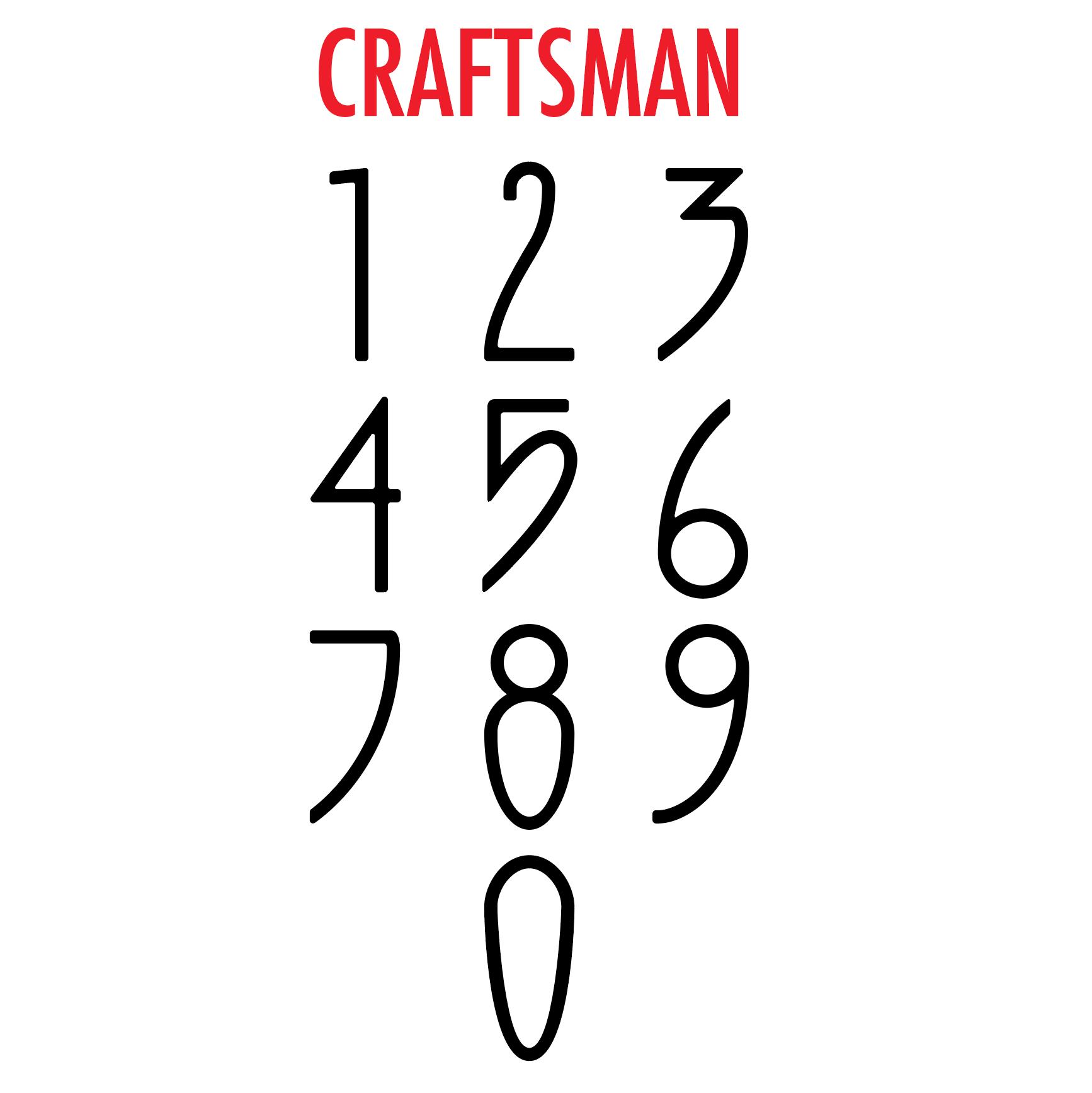 Craftsman Font