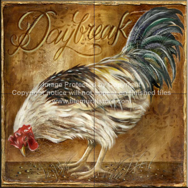kitchen tile murals lg appliance package rooster murals, accent tiles, decorative ...