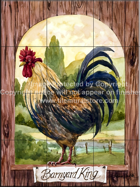Rooster Tile Murals Rooster Accent Tiles Decorative