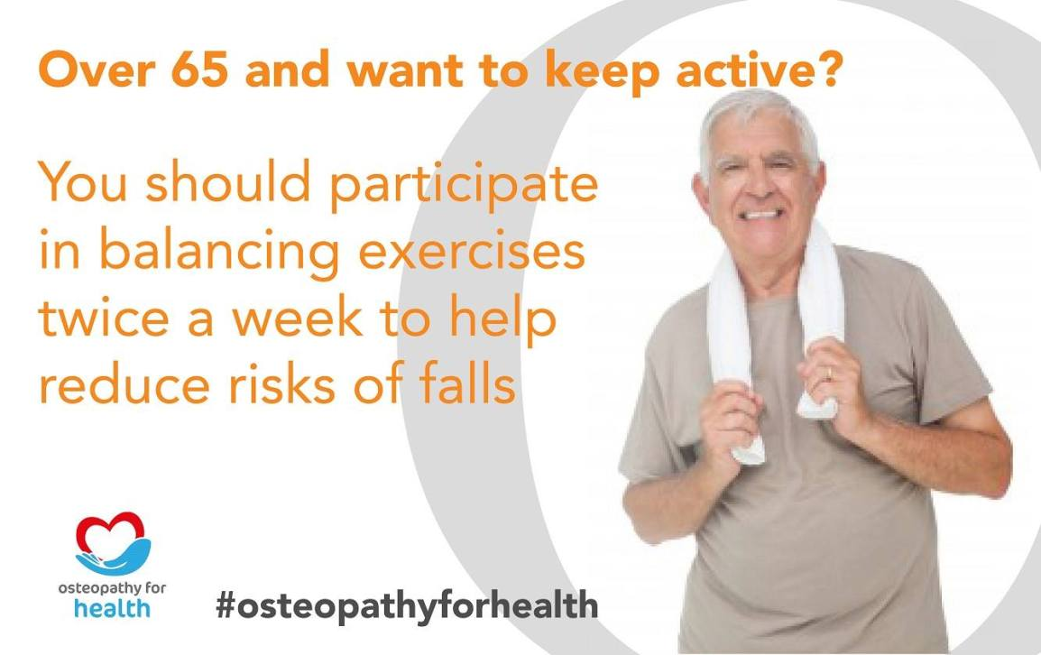 healthy ageing - osteopathy - balancing exercises - elderly falls