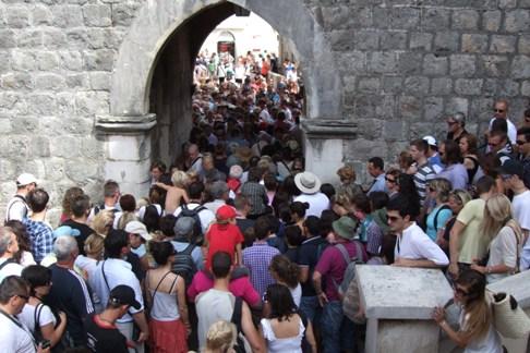Queuing for ice cream in Dubrovnik?