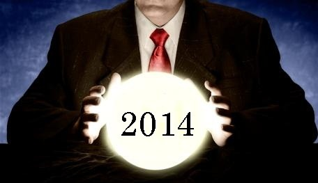 Businessman Predicting 2011 with Crystal Ball