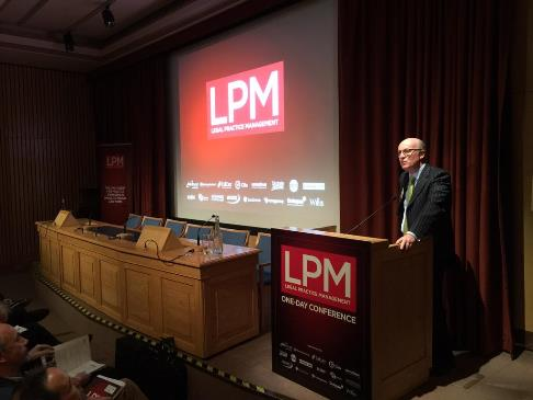Simon Slater opens proceedings at the Legal Practice Management Conference 2015
