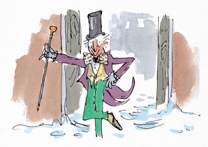 Quentin Blake's illustration of Willy Wonka