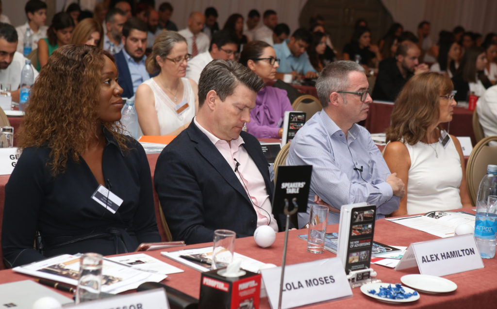 Cyprus Legal Conference 2019 - Brian Inkster and other speakers at table in audience