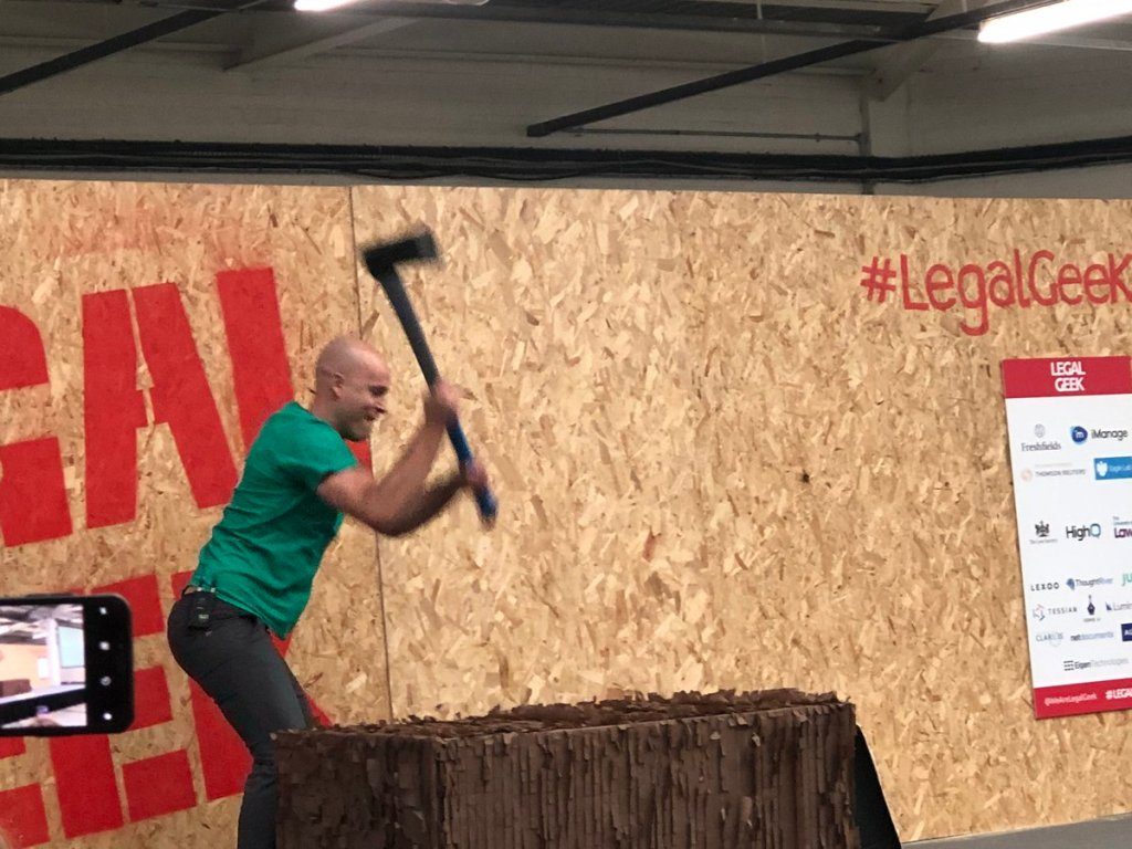 Legal Geek 2019 - Noah with axe