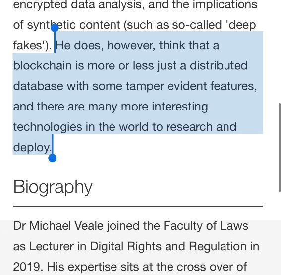 Michael Veale Biography - Blockchain