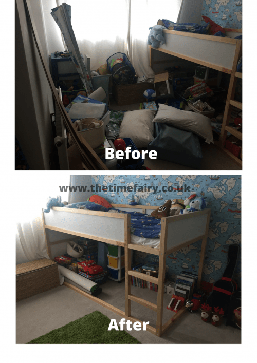 Before after kids room