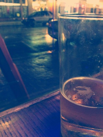 When it is raining cats and dogs and you're at the pub - what do you do? Enjoy yourself!