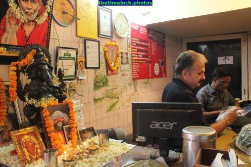cash counter at andhra bhavan restaurant
